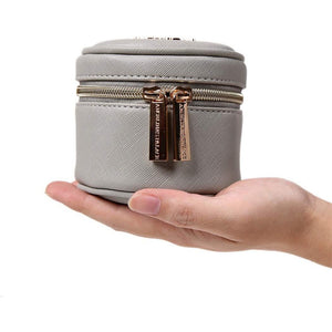 Round Jewelry Case<br>Pearl Grey