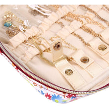Load image into Gallery viewer, Jewelry Bag Large<br>Blossom Wine