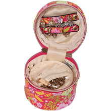 Load image into Gallery viewer, Round Jewelry Case<br>Blossom Fuschia