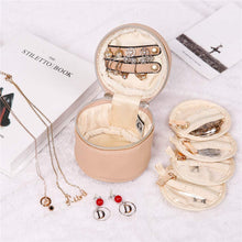 Load image into Gallery viewer, Round Jewelry Case<br>Light Fawn