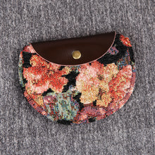 Load image into Gallery viewer, Minimalist Style Leather Carpet Coin Purse<br>Floral Rose