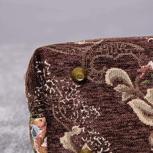 Load image into Gallery viewer, Mini Carpet Tote<br>Floral Coffee