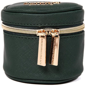 Round Jewelry Case<br>Deep Evergreen