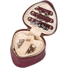 Load image into Gallery viewer, Heart Jewelry Case<br>Burgundy