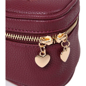 Heart Jewelry Case<br>Burgundy