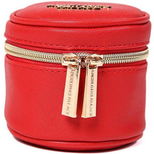 Load image into Gallery viewer, Round Jewelry Case<br>Light Red
