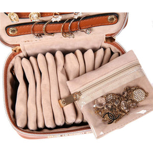 Jewelry Organizer Case<br>Bran