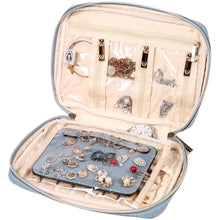 Load image into Gallery viewer, Jewelry Bag Large<br>Pearl Blue