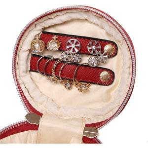 Round Jewelry Case<br>Brandy