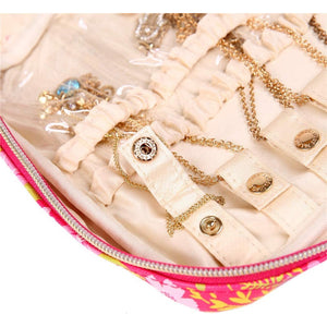 Jewelry Bag Large<br>Blossom Fuschia