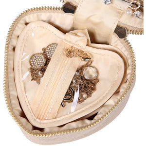 Heart Jewelry Case<br>Champagne