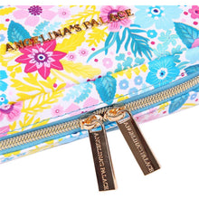 Load image into Gallery viewer, Jewelry Bag Small<br>Blossom Blue