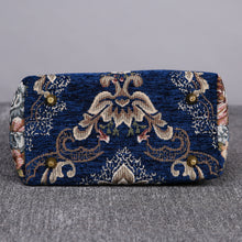 Load image into Gallery viewer, Mini Carpet Tote<br>Floral Blue