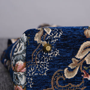 Mini Carpet Tote<br>Floral Blue