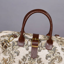 Load image into Gallery viewer, Mary Poppins Carpet Bag<br>Victorian Blossom Cream/Gold