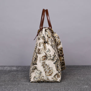 Mary Poppins Carpet Bag<br>Victorian Blossom Cream/Gold