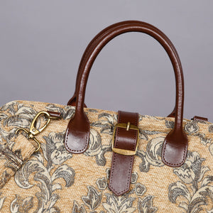 Mary Poppins Carpet Bag<br>Victorian Blossom Beige/Gold