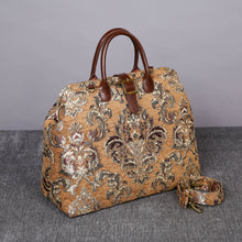Load image into Gallery viewer, Mary Poppins Carpet Bag<br>Victorian Blossom Gold/Gold