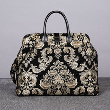 Load image into Gallery viewer, Mary Poppins Carpet Bag<br>Victorian Blossom Black/Gold