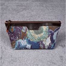 Load image into Gallery viewer, Carpet Makeup Bag<br>Abstract Blue