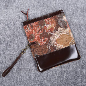 Carpet Clutch & Wristlet<br>Abstract Brown