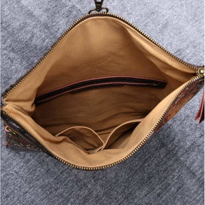Carpet Crossbody Bag<br>Abstract Brown
