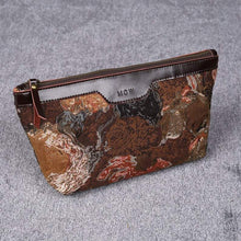 Load image into Gallery viewer, Carpet Makeup Bag<br>Abstract Brown