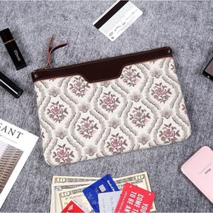 Carpet Clutch & Wristlet<br>Traditional Cream