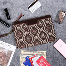 Load image into Gallery viewer, Carpet Clutch & Wristlet<br>Traditional Coffee