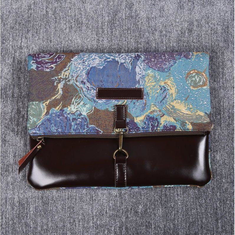 Carpet Crossbody Bag<br>Abstract Blue