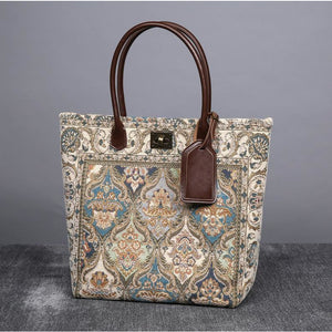 Carpet Tote<br>Golden Age Blue