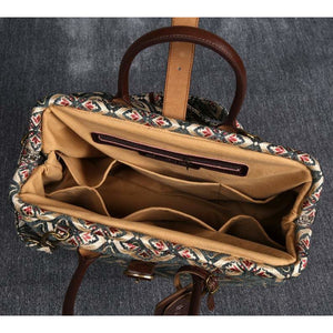 Mary Poppins Carpet Bag<br>Ethnic Green