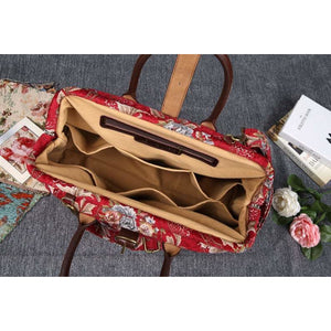 Mary Poppins Carpet Bag <br>Floral Wine