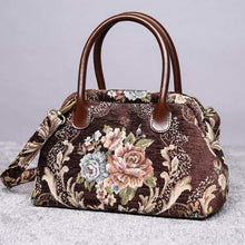 Load image into Gallery viewer, Carpet Handbag<br>Floral Coffee