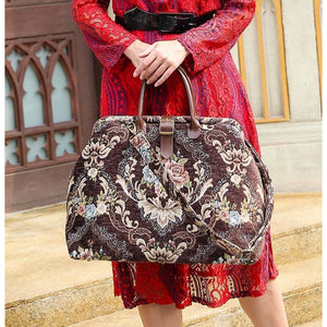 Mary Poppins Carpet Bag<br>Floral Coffee
