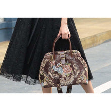 Load image into Gallery viewer, Carpet Purse<br>Floral Coffee