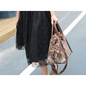 Carpet Purse<br>Floral Coffee