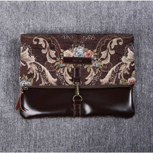 Load image into Gallery viewer, Carpet Crossbody Bag<br>Floral Coffee