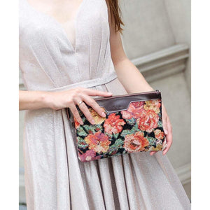 Carpet Clutch & Wristlet<br>Floral Rose