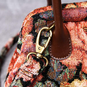 Carpet Handbag<br>Floral Rose