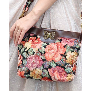 Carpet Crossbody Bag<br>Floral Rose