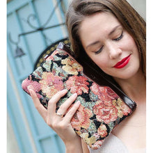 Load image into Gallery viewer, Carpet Clutch & Wristlet<br>Floral Rose