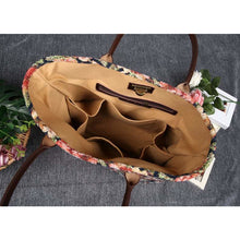 Load image into Gallery viewer, Carpet Tote<br>Floral Rose
