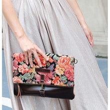 Load image into Gallery viewer, Carpet Crossbody Bag<br>Floral Rose