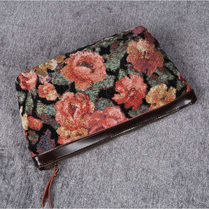 Carpet Makeup Bag<br>Floral Rose