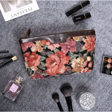 Load image into Gallery viewer, Carpet Makeup Bag<br>Floral Rose