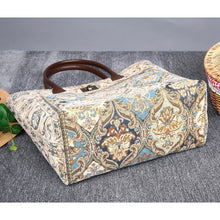 Load image into Gallery viewer, Carpet Tote<br>Golden Age Blue