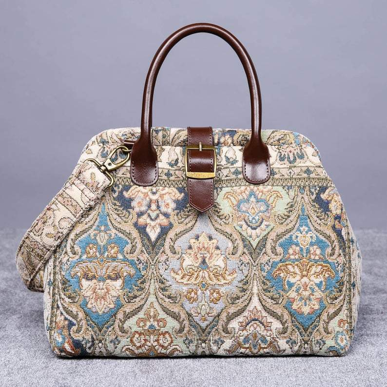Carpet Purse<br>Golden Age Blue