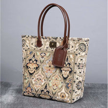 Load image into Gallery viewer, Carpet Tote<br>Golden Age Navy