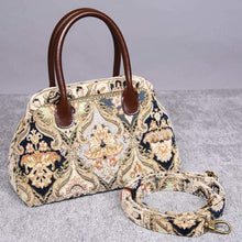 Load image into Gallery viewer, Carpet Handbag<br>Golden Age Navy